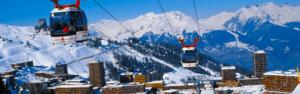 La station de ski de la Plagne en hiver